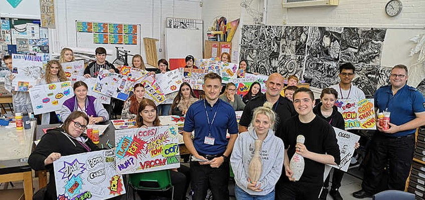 Newport Students Receive A Thank You From Gwent Police