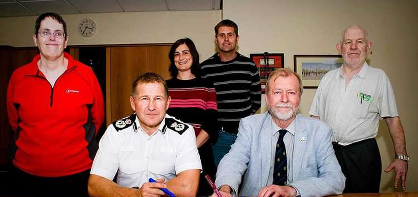 Police Representatives Sign Gwent Charter